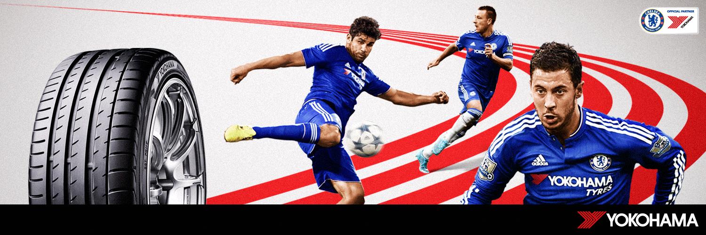 Chelsea FC dæk fra Yokohama til ægte fans